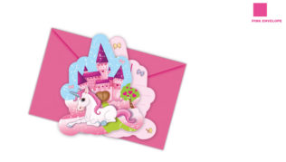 Unicorn - Die-cut Invitations & Envelopes