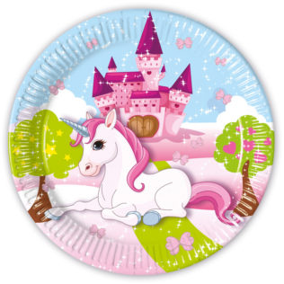 Unicorn - Paper Plates Large 23cm