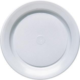 Plastic Plates 20.5 Cm  sc 1 st  Procos Party & White Paper Plastic Plates White Plastic Cups u0026 Crystal Cups ...